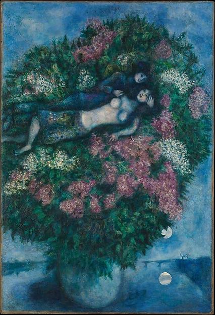 Marc Chagall. Amantes entre lilas. 1930. Metropolitan Museum.
