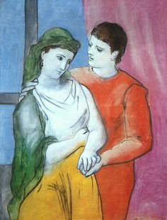 Pablo Picasso. Los amantes. 1923. National Gallery. Washington.