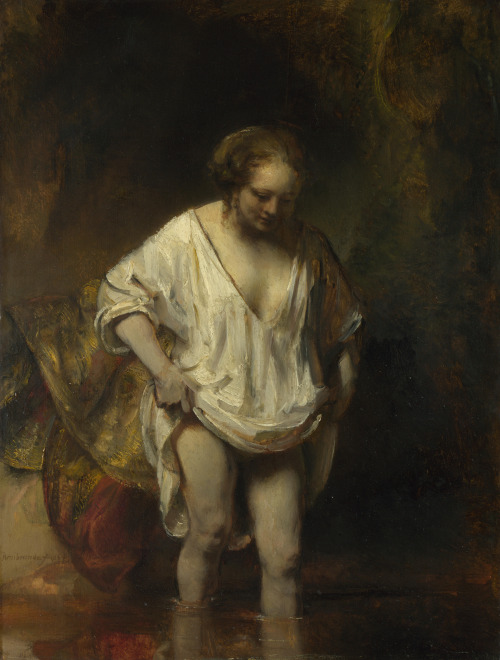 Rembrandt. Mujer bañándose. 1654. National Gallery. Londres.