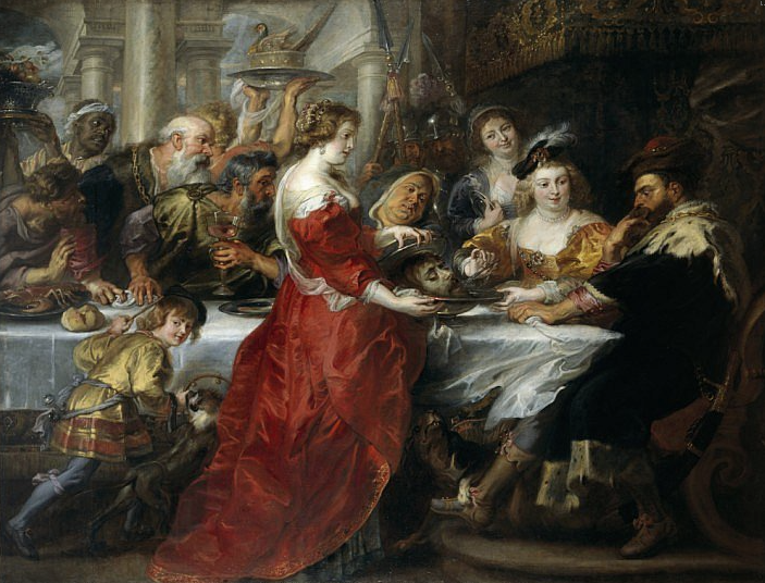 Rubens. La fiesta de Herodes. 1635-1638. National Gallery. Scotland.