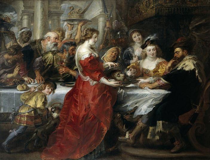 Rubens. La fiesta de Herodes. 1635-1638. National Gallery. Scotland.