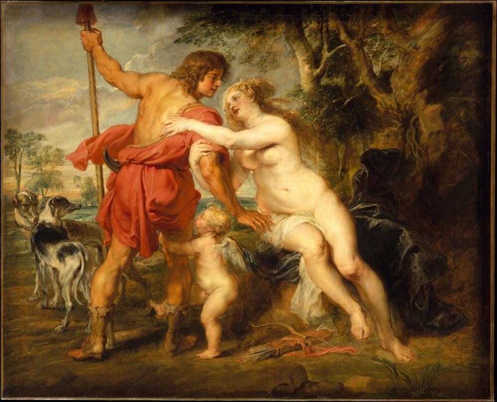 Rubens. Venus y Adonis. 1630. Metropolitan Museum of Art.