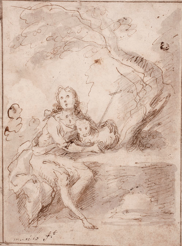 Bartolomé Esteban Murillo. San Juan Bautista en el desierto. Segunda mitad del siglo XVII. Museo del Prado.