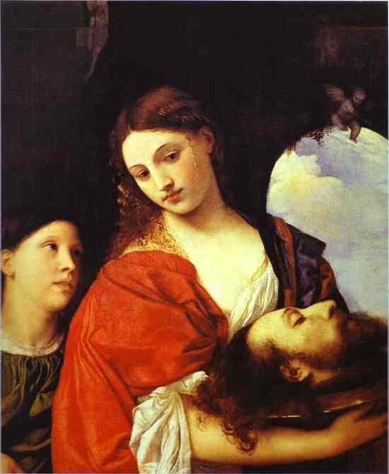 Tiziano. Salomé con la cabeza de Juan el Bautista. Hacia 1515. Galleria Doria Pamphili. Roma.