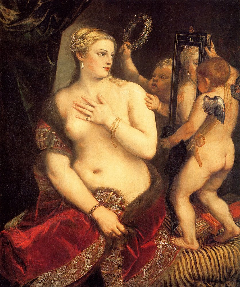 Tiziano. Venus del espejo. Hacia 1555. National Gallery. Washington.