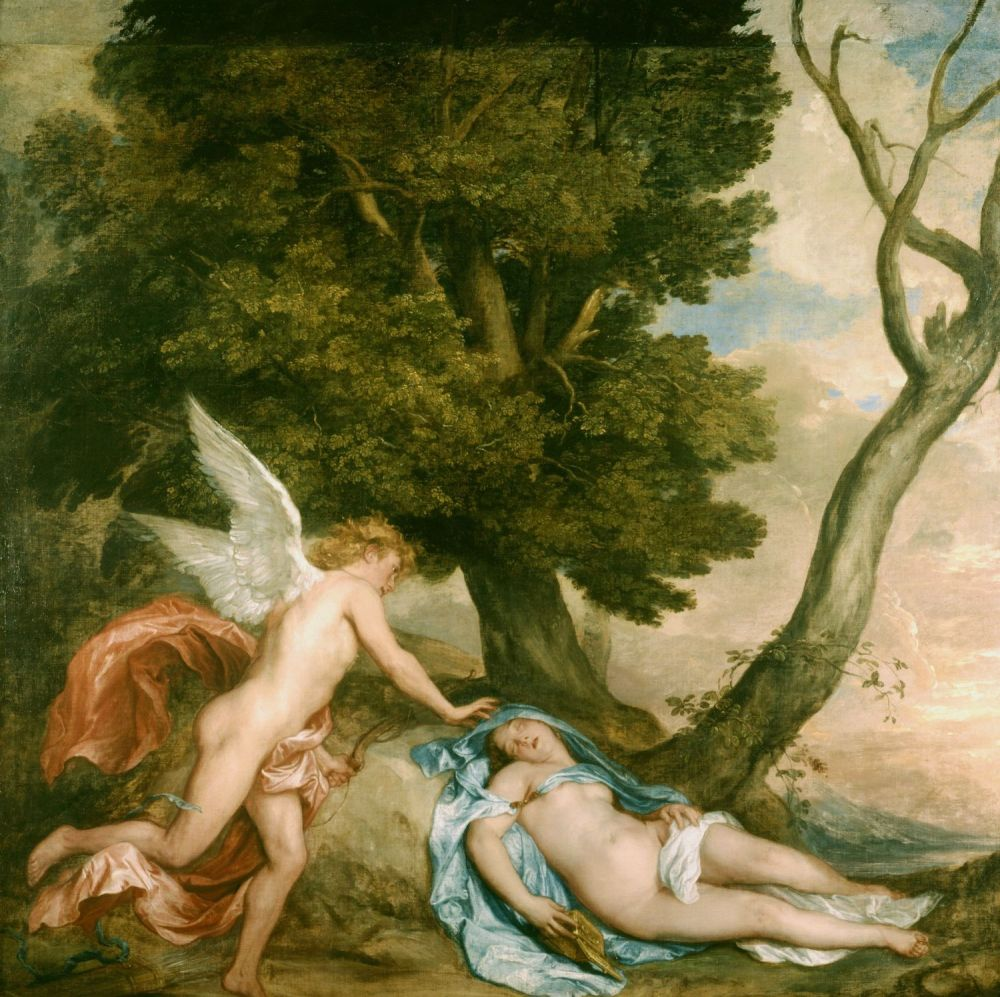 Van Dyck. Amor y Psique. 1639–1640. Colección Real Británica.