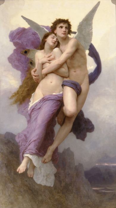 William-Adolphe Bouguereau .El rapto de Psique. 1895. Colección particular.