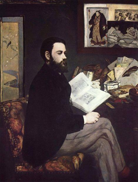 Édouard Manet. Retrato de Émile Zola. 1868. Museo de Orsay. París.