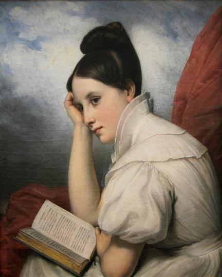 Charles-Guillaume Steuben – Bauerbach. La luz de la lectura. 1829. Museo de Bellas Artes. Nantes.
