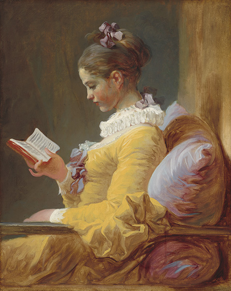 Fragonard La lectora, c. 1770–1772. National Gallery. Washington.
