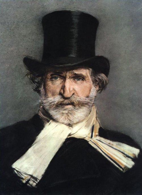 Giovanni Boldini. Retrato de Giuseppe Verdi con sombrero de copa. Galeria Nacional de Arte Moderno. Roma.