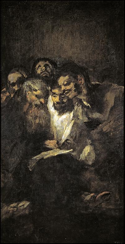 Francisco de Goya. Hombres leyendo. 1819-1823. Museo del Prado. Madrid.