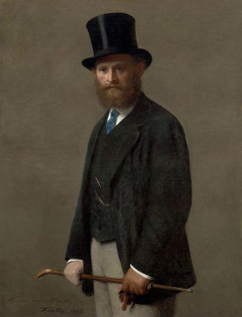 Henri Fantin-Latour. Retrato de Edouard Manet. 1867. Instituto de Arte de Chicago.