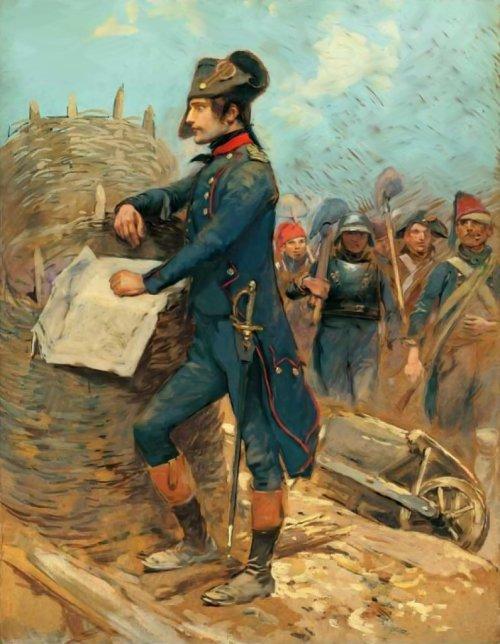 Jean Baptiste Edouard Detaille. Napolón en el sitio de Tolon. 1793.