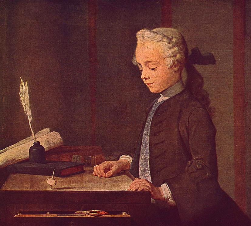 Jean-Baptiste-Siméon Chardin. El niño de la peonza. 1738. Museo del Louvre. París.
