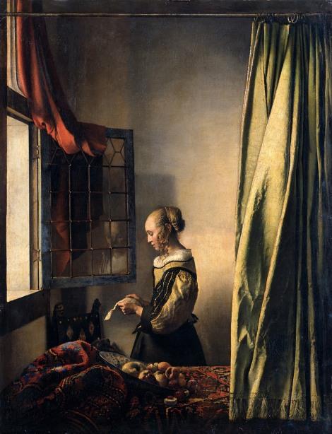 Johannes Vermeer. Mujer leyendo una carta. 1657. Gymäldegalerie. Dresde.
