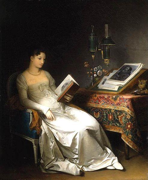 Marguerite Gérard. Dama leyendo en un interior. Hacia 1795-1800. Colección privada.