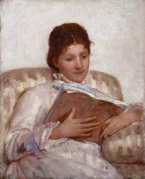 Mary Cassatt. La lectora. 1877. Crystal Bridges Museum of American Art. Arkansas.