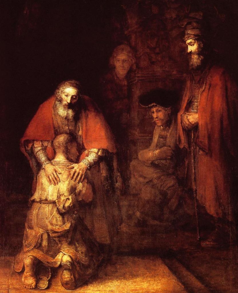 Rembrandt. El regreso del hijo pródigo hacia 1662 . Museo del Heritage. San Petersburgo.