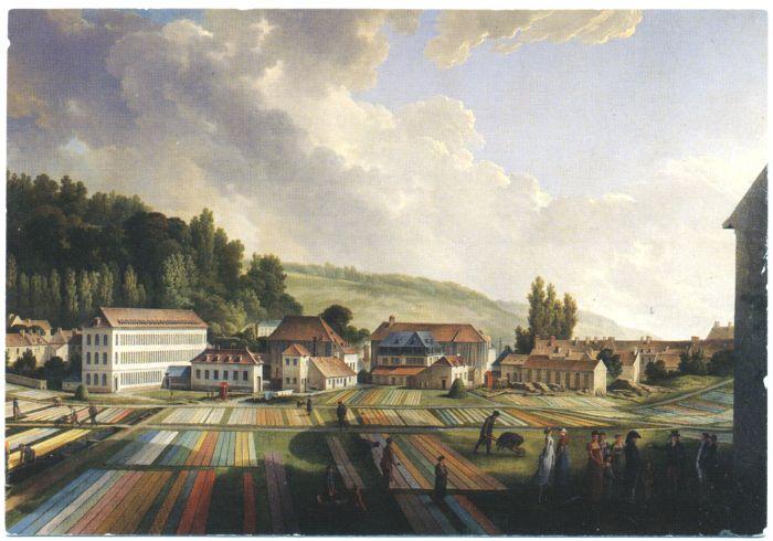 Fábrica de Jouy-en-Josas. Museo de la Toile de Jouy. Château de l'Églantine. Jouy-en-Josas. Francia.
