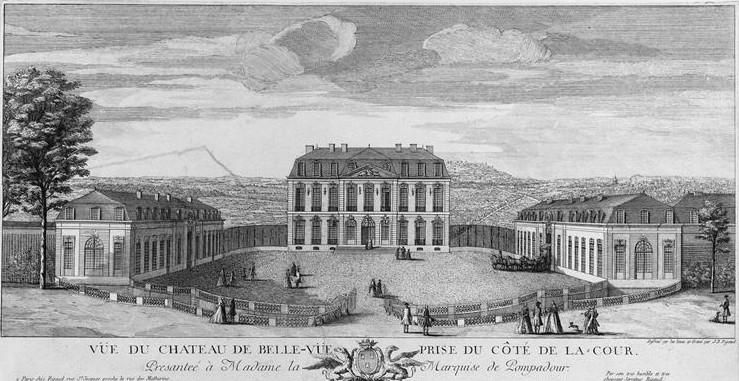 Jacques Rigard. Castillo de Bellevue en Meudon.Segunda mitad del siglo XVIII.
