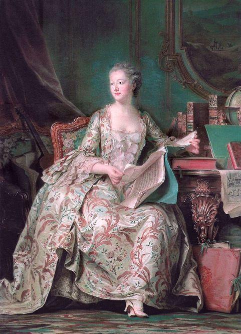 Maurice Quentin de La Tour. Madame de Pompadour. Hacia 1748-1755. Museo del Louvre. París.