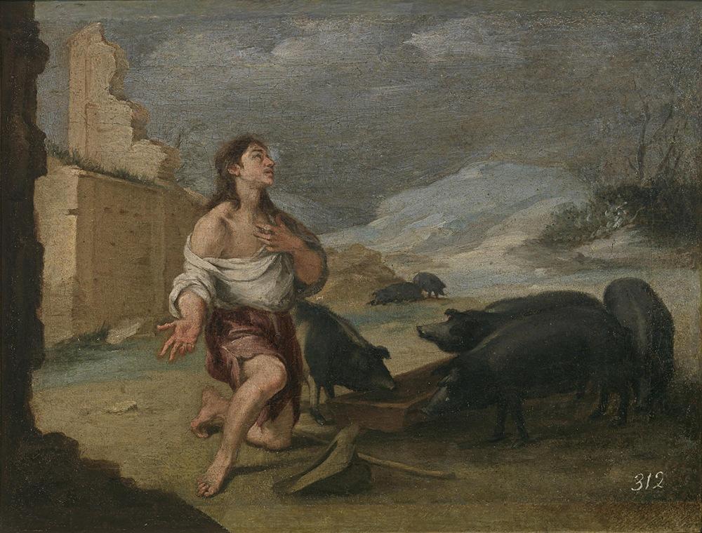 Bartolomé Esteban Murillo. El hijo pródigo abandonado. 1660 – 1665. Museo del Prado. Madrid.