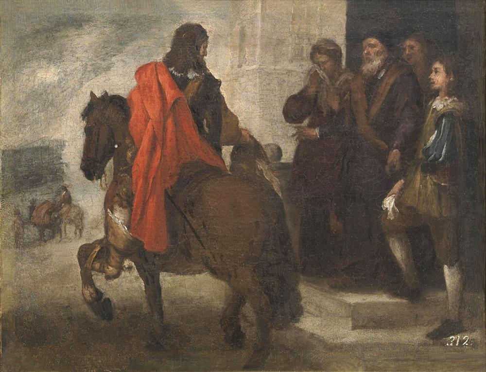 Bartolomé Esteban Murillo. La despedida del hijo pródigo. 1660 - 1665. Museo del Prado. Madrid.