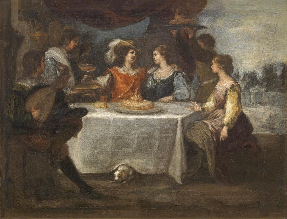 Bartolomé Esteban Murillo. La disipación del hijo pródigo. 1660 - 1665. Museo del Prado.