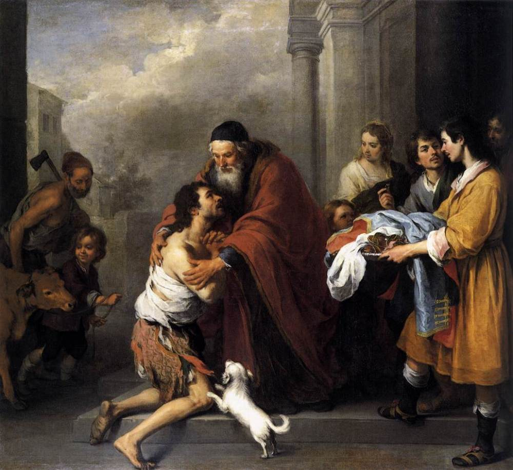 Bartolomé Esteban Murillo. Regreso del hijo pródigo. 1668. National Gallery. Washington.