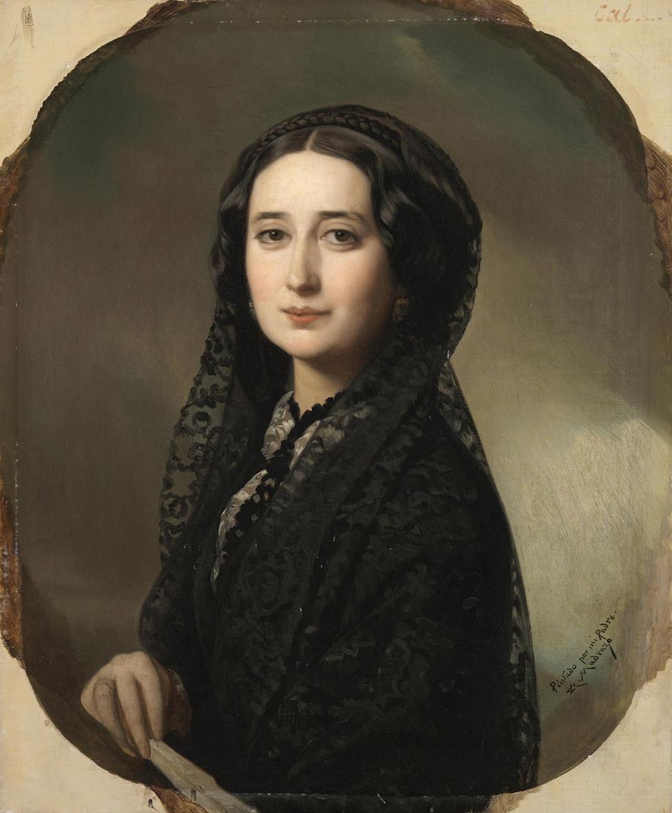 Federico de Madrazo y Kuntz.. Carolina Coronado. Hacia 1855. Museo del Prado. Madrid.