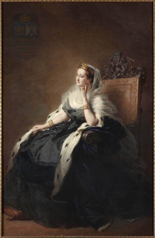 Franz-Xaver Winterhalter, S.M.I. Doña María Eugenia de Guzmán, Condesa de Teba, emperatriz de Francia. 1862. Fundación Casa de Alba.