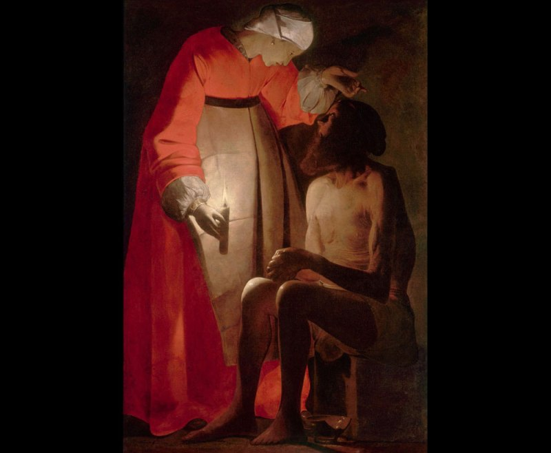 Georges de la Tour. Job y su mujer. Museo Departamental de Arte Antiguo y Contemporaneo. Épinal