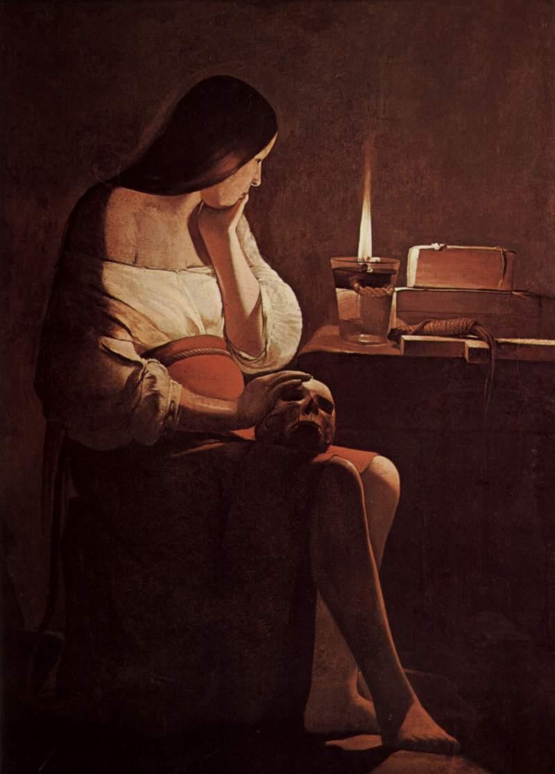 Georges de la Tour. Magdalena Penitente de la lamparilla. 1642-1644.
