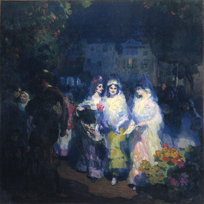 Gustavo-Bacarisas. Sevilla en fiestas.1915. Museo de Bellas Artes. Sevilla.