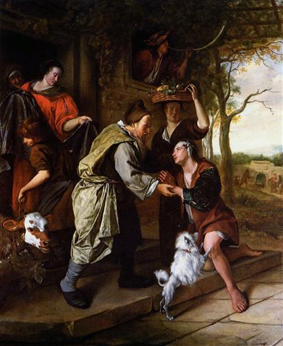 Jan Steen. El regreso del hijo pródigo. 1670. Colección particular.