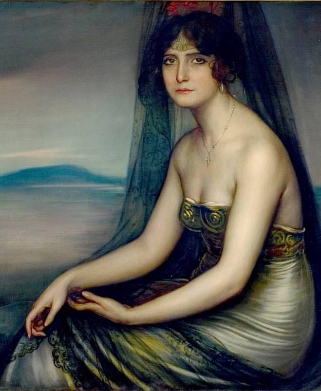 Julio Romero de Torres. La bella Otero. 1913-1914. Colección PRASA: Málaga.