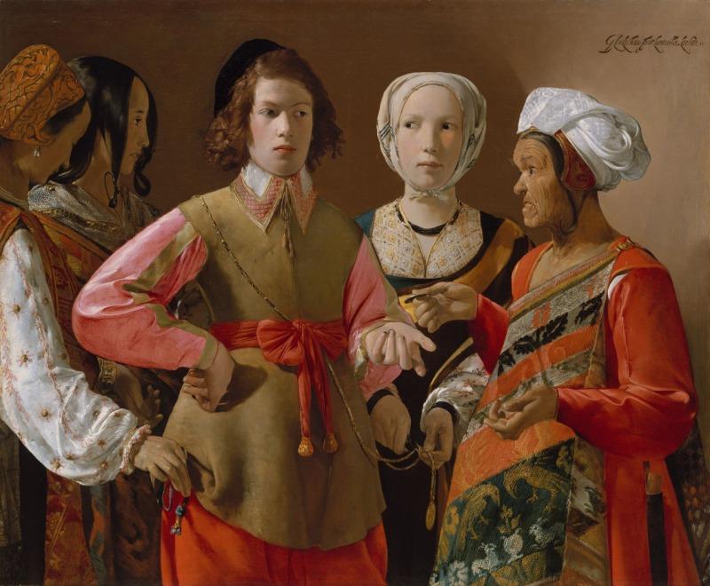 Georges de La Tour. La buenaventura. Metropolitan Museum. Nueva York.