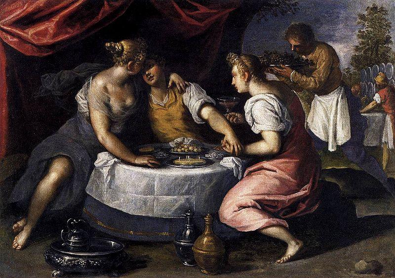 Palma el joven. Las diversiones del hijo pródigo. 1595-1600. Galería de la Academia. Venecia.