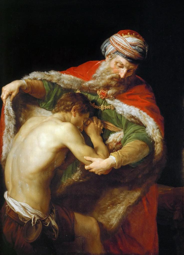 Pompeo Batoni. El retorno del hijo pródigo. 1773. Kunsthistorisches. Viena.