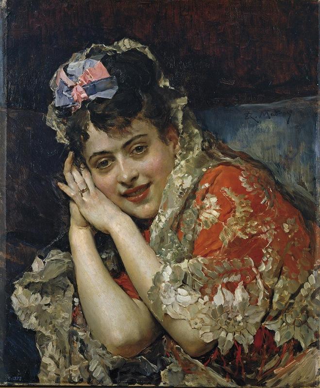 Raimundo de Madrazo. Aline Masson, con mantilla blanca. Hacia 1875. Museo del Prado. Madrid.