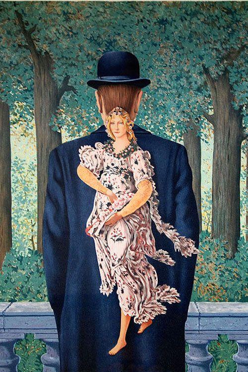 René Magritte. Le bouquet tout fait. 1957.