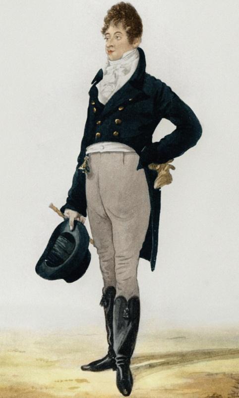 """Robert Dighton. George """"Beau"""" Brummel. 1805."""