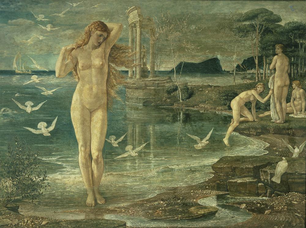 Walter Crane. El renacimiento de Venus. 1877.