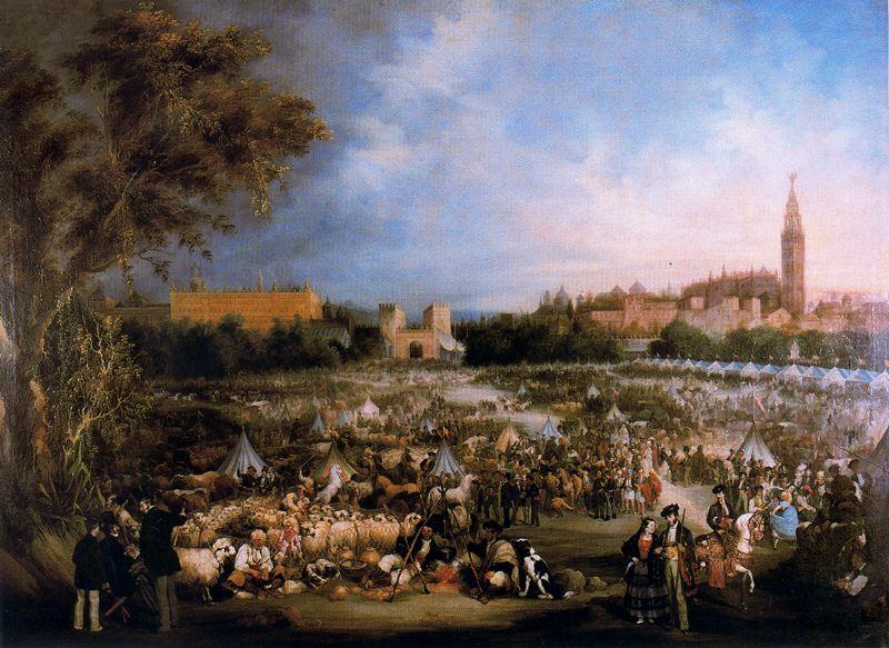 Andrés Cortés y Aguilar. La Feria de Abril. 1852. Ayuntamiento de Sevilla.