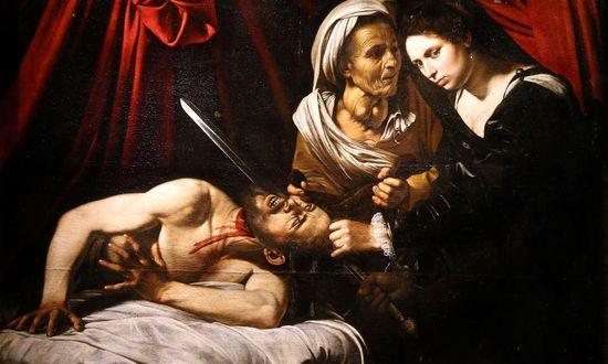 Caravaggio (Atribuido) Judith y Holofernes. Hacia 1600. Colección particular
