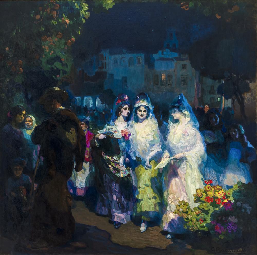 Gustavo Barcarisas. Sevilla en fiestas. 1915. Museo de Bellas Artes de Sevilla.