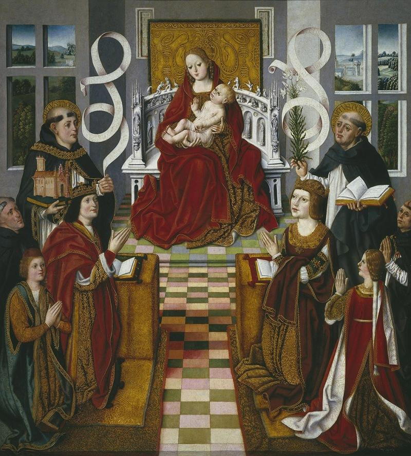 Maestro de la Virgen de los Reyes Católicos. La Virgen de los Reyes Católicos. 1491 - 1493. Museo del Prado. Madrid.