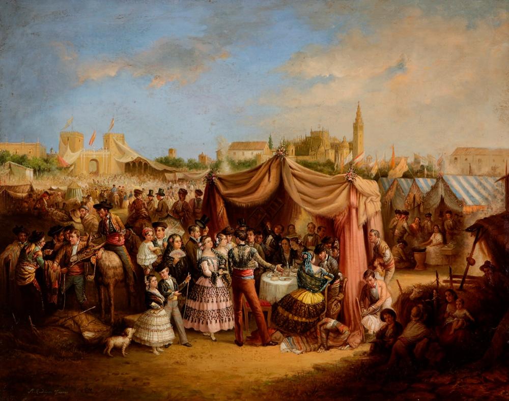 Manuel Rodríguez de Guzmán. La Feria de Sevilla. 1853. Patrimonio Nacional.