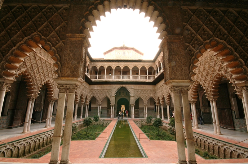 Patio de las doncellas. Alcázar de Sevilla.